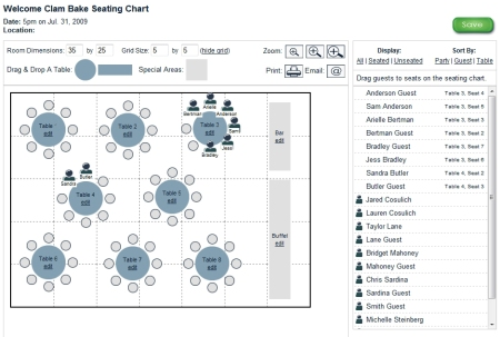 seating chart screenshot