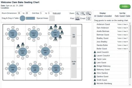 seating chart screenshot